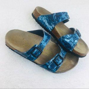 Birkenstock Papillio Silky Blue Floral Sandals
